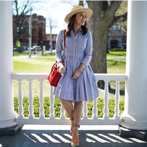 Eliza J striped shirt dress, size 8